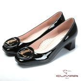 ★新品上市★【CUMAR】專業美型 時尚漆皮舒適高跟鞋-黑色