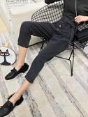 [S-5XL] 大碼高腰寬鬆九分牛仔褲女BF直筒哈倫老爹褲 - 風尚3C