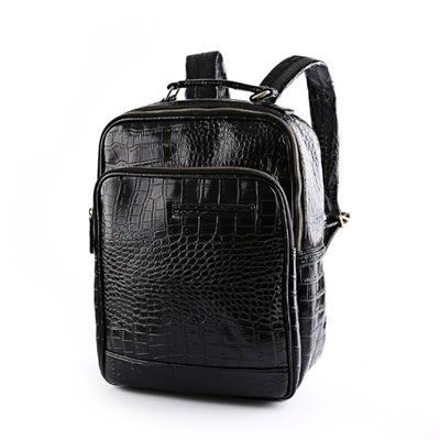 皮革後背包-歐美時尚休閒鱷魚紋男雙肩包73in17【時尚巴黎】