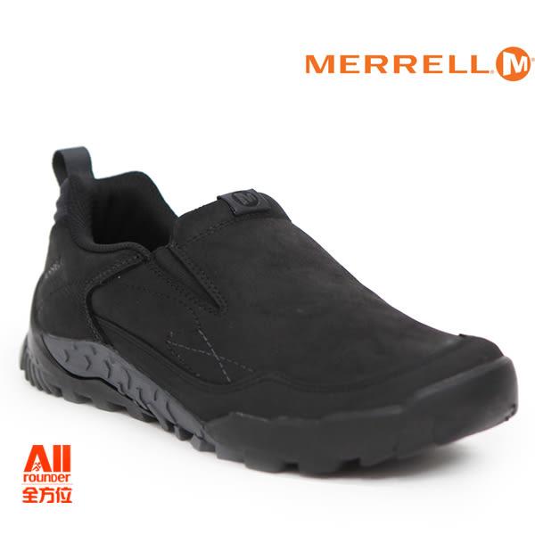 【Merrell】男款HIKING 郊山健行ANNEX TRAK MOC多功能系列 -牛皮黑(91807)【全方位運動戶外館】