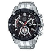 CASIO EDIFICE 優雅公子復古不鏽鋼錶-黑(EFR-559DB-1A)