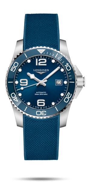 LONGINES 浪琴 深海征服者l浪鬼 L37814969 陶瓷潛水機械錶-41mm藍/膠