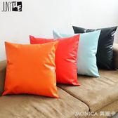 純色新品沙發靠墊抱枕加厚靠背墊辦公室車用腰枕含芯 莫妮卡小屋 igo