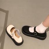 娃娃鞋 大頭鞋原宿風單鞋圓頭鞋娃娃鞋平底鞋森系復古文藝女鞋小清新女鞋 小天後