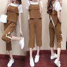 【GZ C1】運動服套裝女新款夏季韓版時尚短袖寬鬆休閒顯瘦闊腿褲三件套