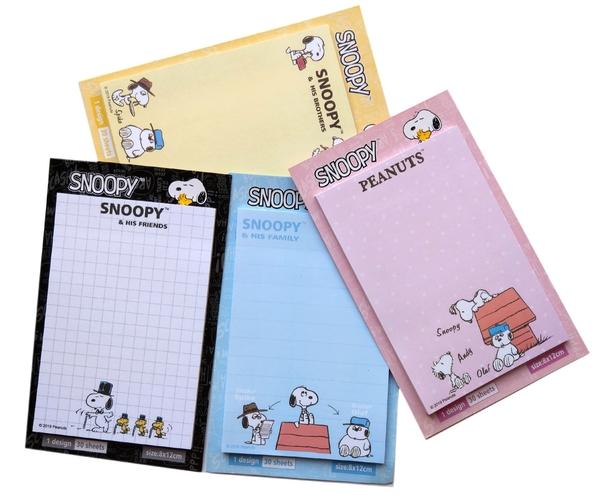 【卡漫城】 Snoopy 便條本 四選二 ㊣版 記事留言 史奴比史努比 便條紙 糊塗塔克 N次貼 留言 便利貼