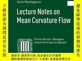 二手書博民逛書店Lecture罕見Notes On Mean Curvature