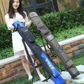 85折魚竿包1.25米硬殼漁具包1.2米魚具包開學季