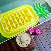 成人菠蘿游泳圈女浮排超大鳳梨浮床水上充氣玩具漂浮氣墊坐騎網紅ATF 格蘭小鋪