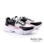 2019  _Keeley Ann 輕 潮流異材撞色輕量老爹鞋黑色Ann 系列