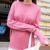 現貨-毛衣-糖果素色QQ捲邊針織毛衣 Kiwi Shop奇異果0929【SOE4462】