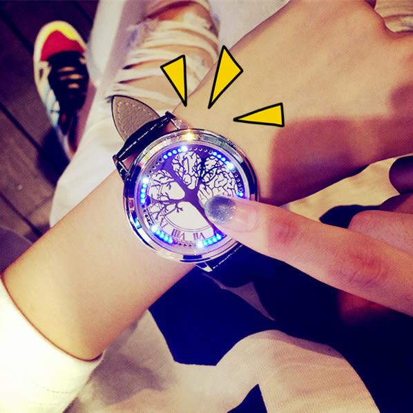 【原創館】電子表 男創意 夜光 LED觸屏