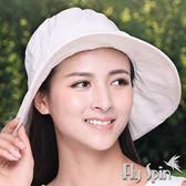 防曬帽子-女款全棉精紡格織布可塑型淑女漁夫遮陽帽13SS-S052 FLYSPIN菲絲品