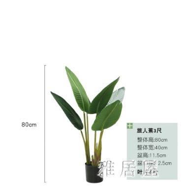 仿真綠植室內大型盆景蕉琴葉榕龜背竹落地植物盆栽 YC767【雅居屋】