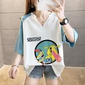 大尺碼上衣 2021夏裝新款超大碼200斤胖mm短袖t恤女寬鬆韓版學生上衣服中袖潮 歐歐