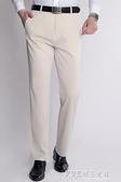 中年男士休閒褲春夏款針織抗皺寬鬆直筒修身褲子男彈力大碼男西褲 探索先鋒