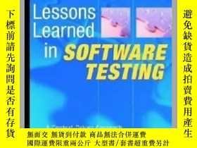 二手書博民逛書店Lessons罕見Learned in Software Testing : A Context-Driven A