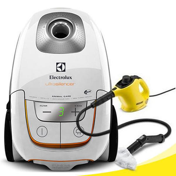 超值清潔組合(送凱馳SC1蒸氣清洗機)【Electrolux伊萊克斯】超靜音吸塵器UltraSilence ZUS4065PET