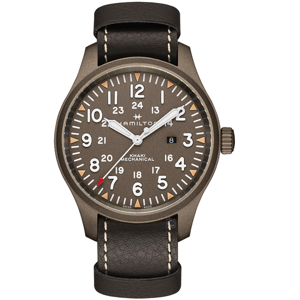 Hamilton漢米爾頓卡其野戰MECHANICAL軍事手錶  H69829560
