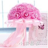 新娘結婚手捧花婚禮仿真玫瑰花球結婚手捧花影樓婚紗照『小淇嚴選』