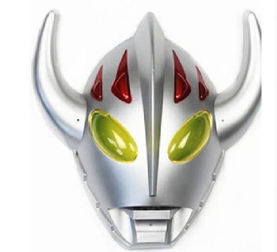 【發現。好貨】鹹蛋超人發光面具 迪迦奧特曼 發光發聲面具 加厚版 萬聖節表演面具 長角版
