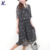 【春夏新品】American Bluedeer - 波點雪紡洋裝 二色