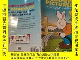 二手書博民逛書店hidden罕見pictures coloring puzzle fun! 隱藏圖片著色拼圖樂趣!Y20039