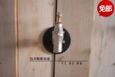 超豐國際工業風LOFT 美式水管門把手復古鐵藝水管拉手門把
