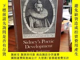 二手書博民逛書店Sidney s罕見Poetic DevelopmentY94537 Rudenstine, Neil L.