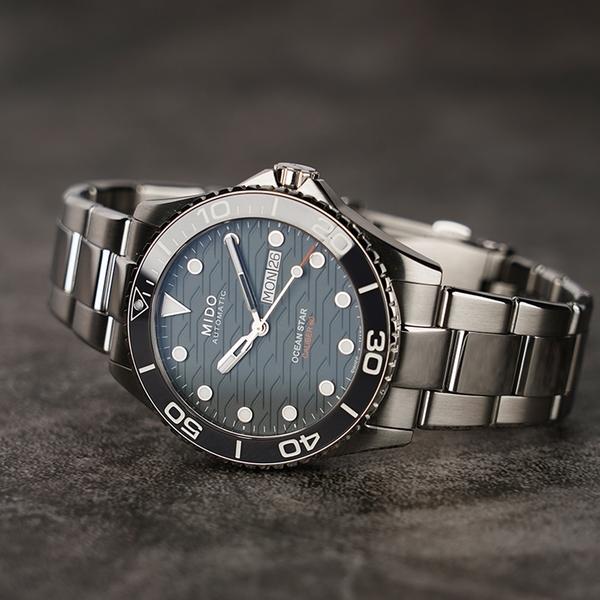 MIDO 美度 Ocean Star 200C 海洋之星陶瓷潛水錶-灰/42.5mm M0424301108100