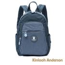 金安德森Kinloch Anderson SMILE 圓弧拉鍊口袋後背包-深藍