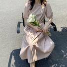 法式方領后抽繩洋裝連身裙【82-16-88111-20】ibella 艾貝拉