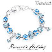 《Caroline》★【藍色狂想】潘朵拉琉璃珠.優雅時尚品味典雅設計手鍊68581