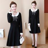 【GZ22】連身裙洋裝 秋季新款大碼女裝胖公主寬鬆顯瘦娃娃領純色長袖連衣裙子減齡