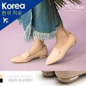 包鞋.金邊低跟尖頭包鞋-FM時尚美鞋-韓國精選.lightly