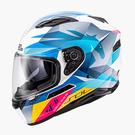 【東門城】SOL SF-6 獨角獸(白藍) 全罩式安全帽 雙鏡片(預購新品)