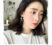 [gogo購]韓國百搭潮人夸張扭曲金屬耳墜大氣