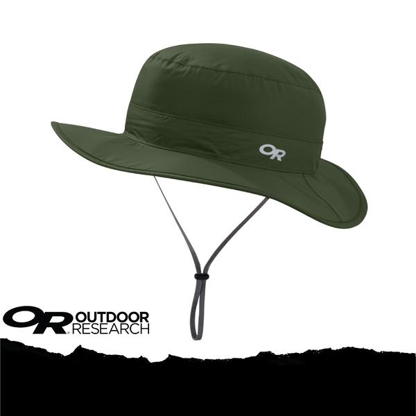 【Outdoor Research 美國 OR CLOUD FOREST RAIN HAT 抗UV防水透氣中盤帽/XL《軍綠》】264408-0740/UPF50+