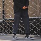 秋裝新款文藝日系寬鬆卷腿休閒褲男裝長褲子復古鬆緊腰帶青年流行  巴黎街頭