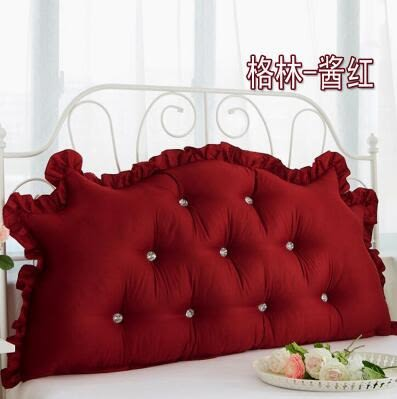韓式田園公主床頭大靠背全棉大靠墊純棉床上雙人長靠枕含芯【1.2米花色】