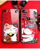 iPhone 6 6S Plus 手機殼 全包防摔保護套 全包矽膠軟殼 附送掛繩 保護殼 手機套 招財貓 iPhone6 蘋果6