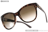GUCCI 太陽眼鏡 GG3795FS LWFCC (琥珀) 簡約LOGO人氣貓眼款 # 金橘眼鏡
