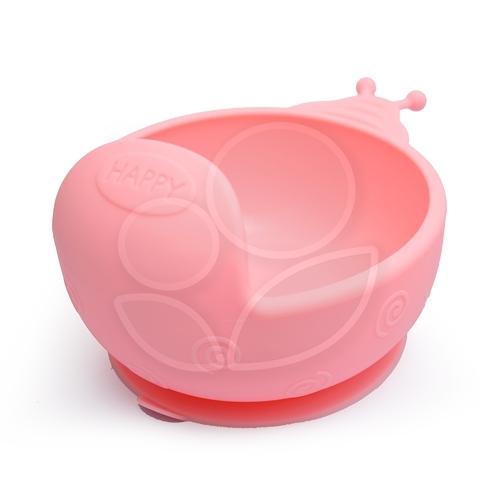 Expect 蝸牛矽膠吸盤碗 - 粉色【佳兒園婦幼館】