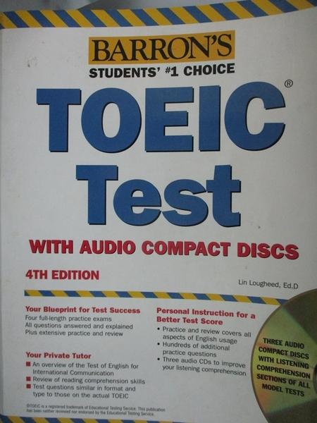 【書寶二手書T5/語言學習_YGN】Barron s TOEIC: Test of English for Intern