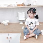 女童短袖T恤夏裝2020新款嬰兒童洋氣半袖小寶寶韓版純棉上衣潮季 童趣