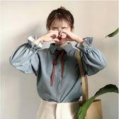 女裝韓版ulzzang學院風襯衫女長袖上衣襯衣