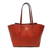 GUCCI 古馳 紅色牛皮肩背包 Swing Small Tote Bag 354408【二手名牌BRAND OFF】