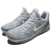 Nike 慢跑鞋 LunarEpic Low Flyknit 2 灰 白 飛線編織 男鞋 運動鞋【PUMP306】 863779-008