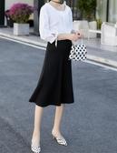 BabyShare時尚孕婦裝【GC525】現貨 東大門款 加大尺碼 專櫃品質 孕婦裙 調節扣 純色彈力托腹裙
