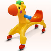 嬰幼兒童扭扭車玩具寶寶溜溜車1-3歲滑行車萬向輪搖擺車子妞妞車WY 萬聖節